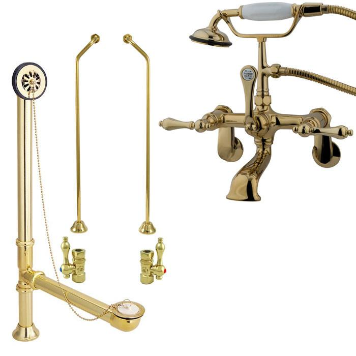 clawfoot tub filler and shower system. Polished Brass Wall Mount Clawfoot Tub Filler Faucet W Hand Shower  Interesting And System Gallery Best coachfactoryoutletmap net 100