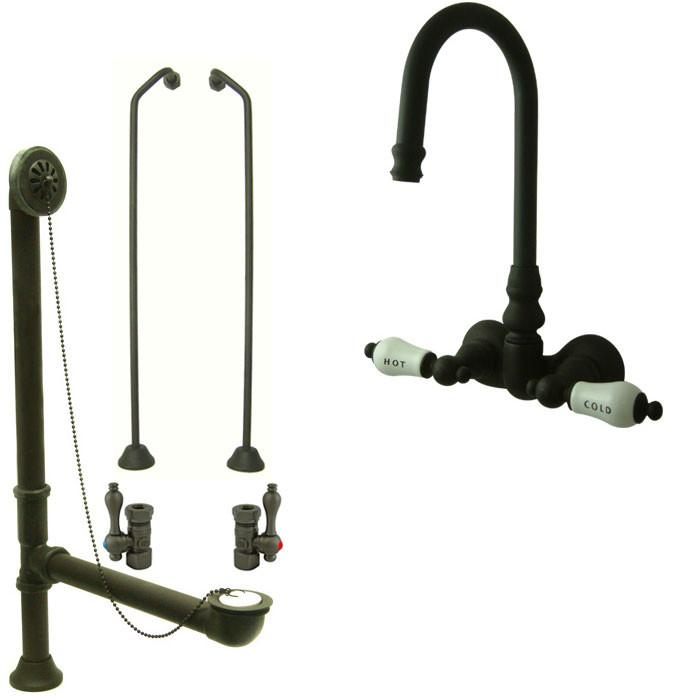 Oil Rubbed Bronze Wall Mount Clawfoot Bathtub Filler Faucet Package CC73T5system