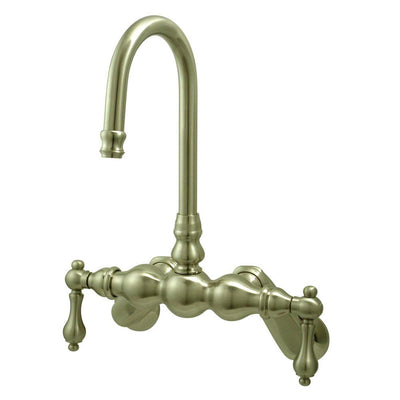 Kingston Brass Satin Nickel Wall Mount Clawfoot Tub Filler Faucet CC81T8