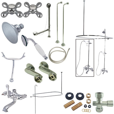 "Kingston Chrome Clawfoot Tub Faucet Package with 22"" Supply Lines CCK1141AX"