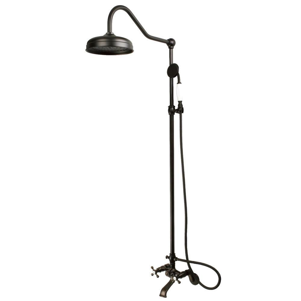 Kingston Brass Oil Rubbed Bronze Clawfoot Tub Faucet Shower ...
