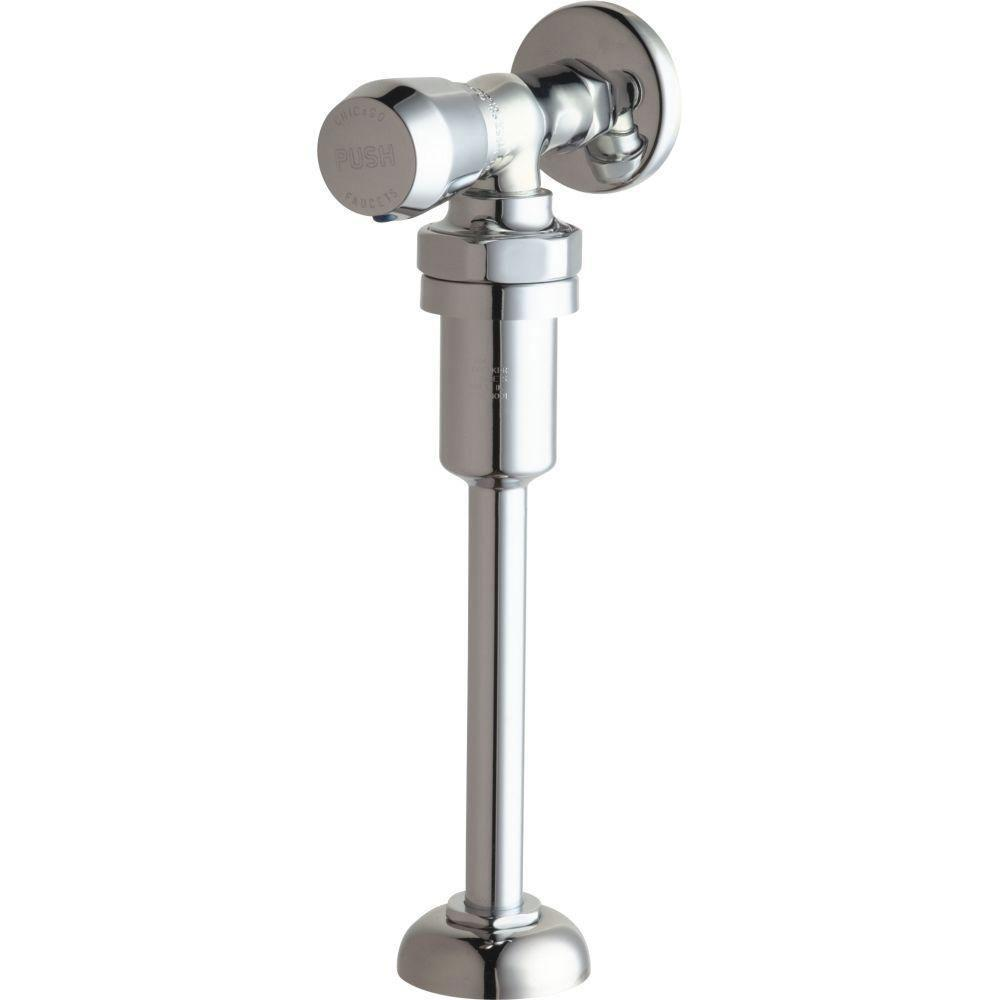 Chicago Faucets 732-VB665PSHCP Angle Urinal Metering Fitting, Chrome 461601