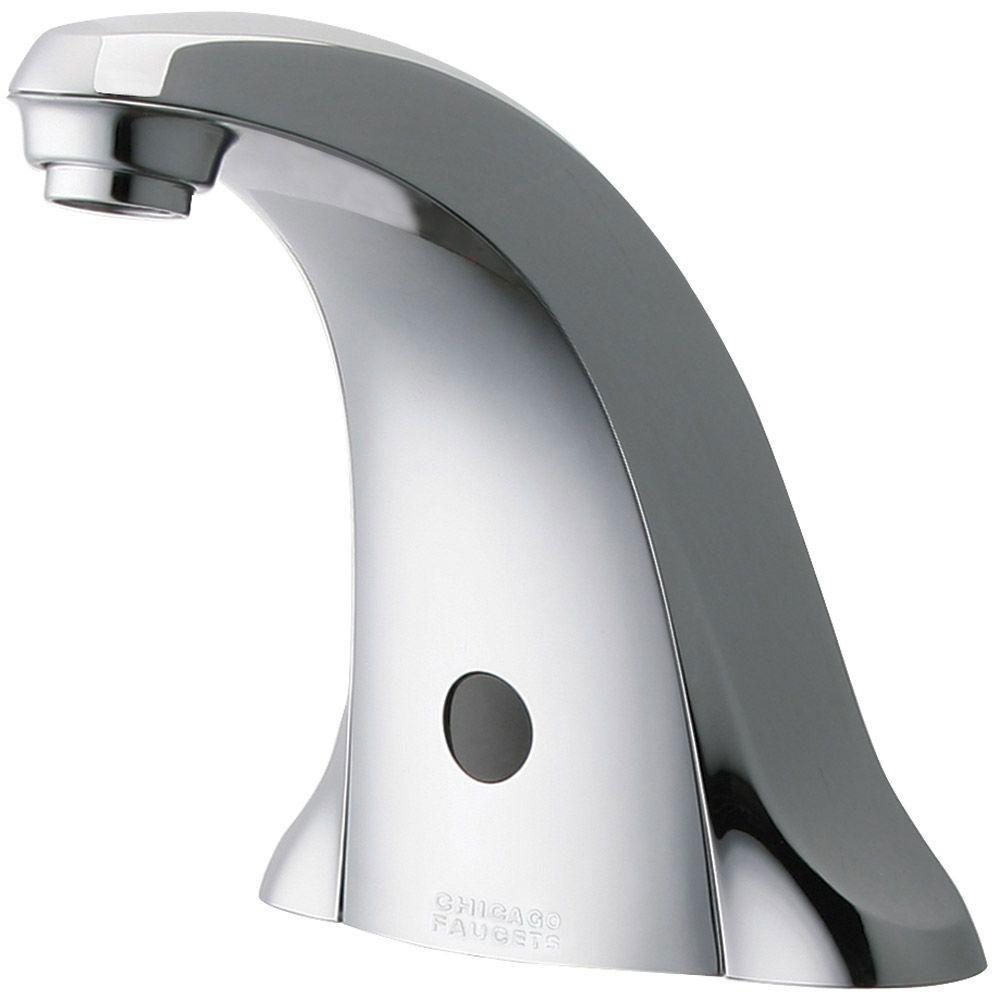 Chicago Faucets Chrome E-Tronic 40 Traditional Sink Faucet with Dual Beam Infrared Sensor 519458