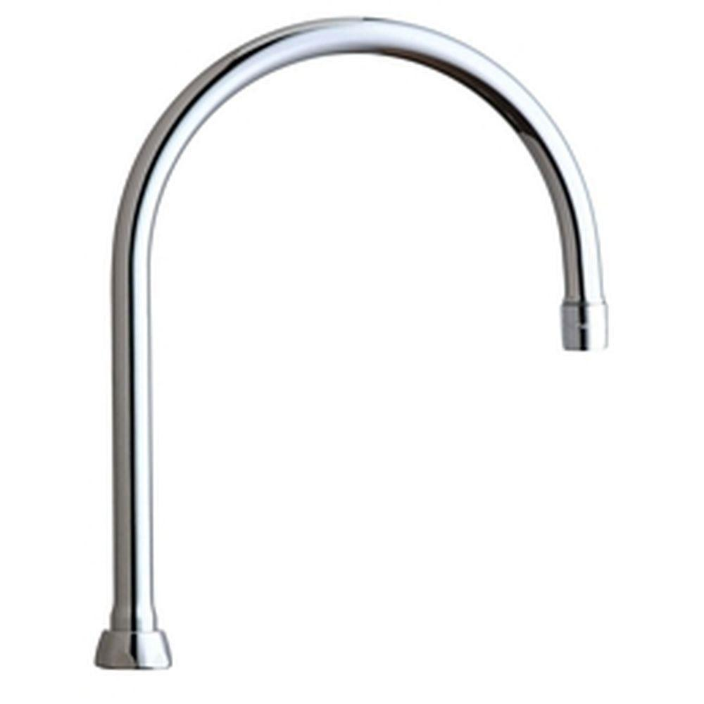 Chicago Faucets 8 inch Rigid/Swing Gooseneck Spout 634124