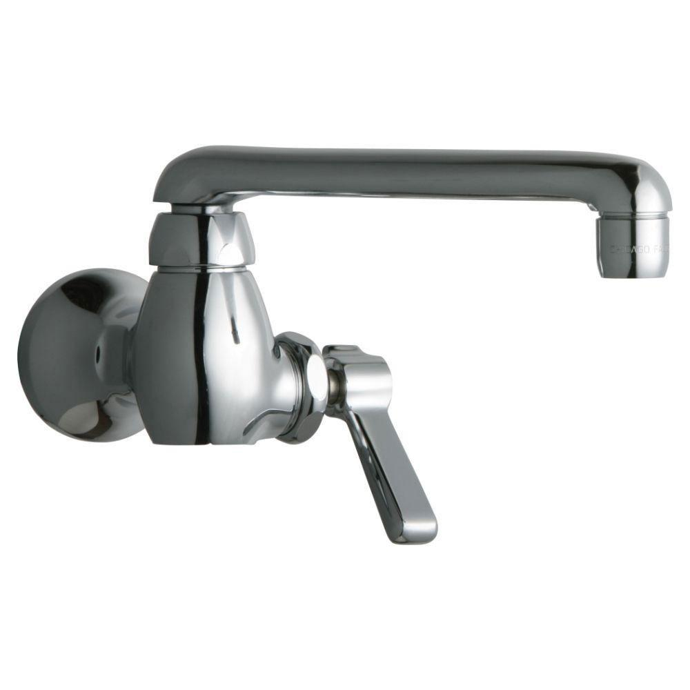 Chicago Faucets 1-Handle Kitchen Faucet in Chrome with 6 inch S Type ...