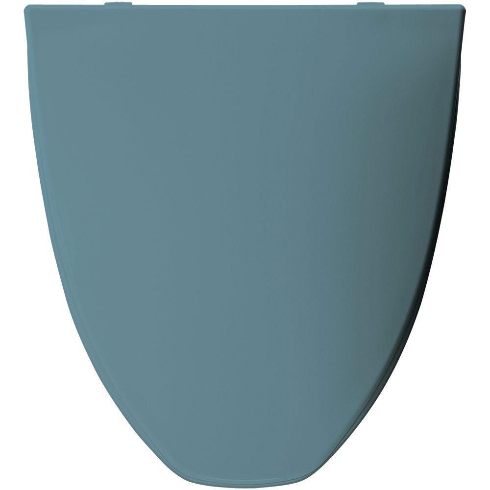 Bemis Elongated Closed Front Toilet Seat in Regency Blue 156389