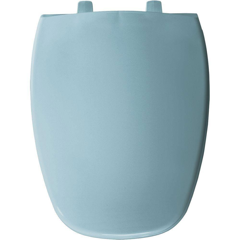 Bemis Elongated Closed Front Toilet Seat in Twilight Blue 309989