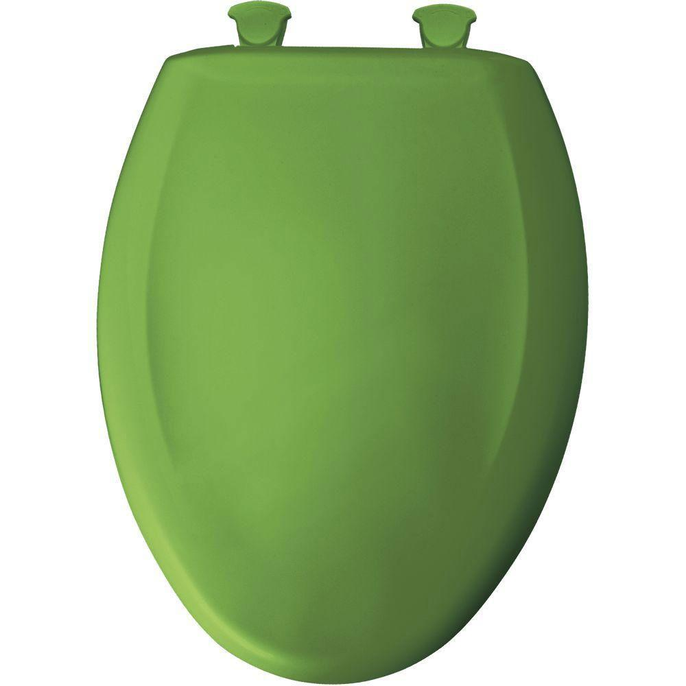 Bemis Slow Close STA-TITE Elongated Closed Front Toilet Seat in Fresh Green 374805
