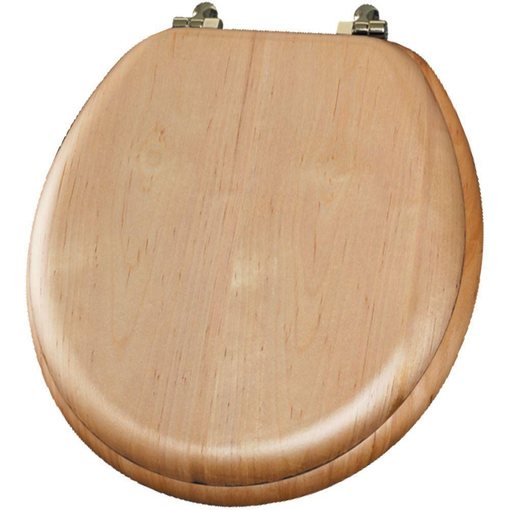 Mayfair Natural Reflections Round Closed Front Toilet Seat in Maple 452021