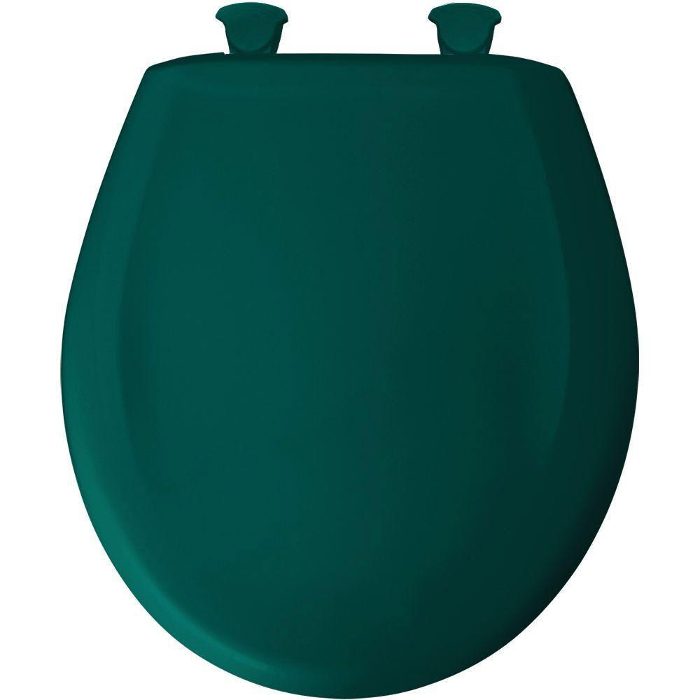 Bemis Round Closed Front Toilet Seat in Teal 480852