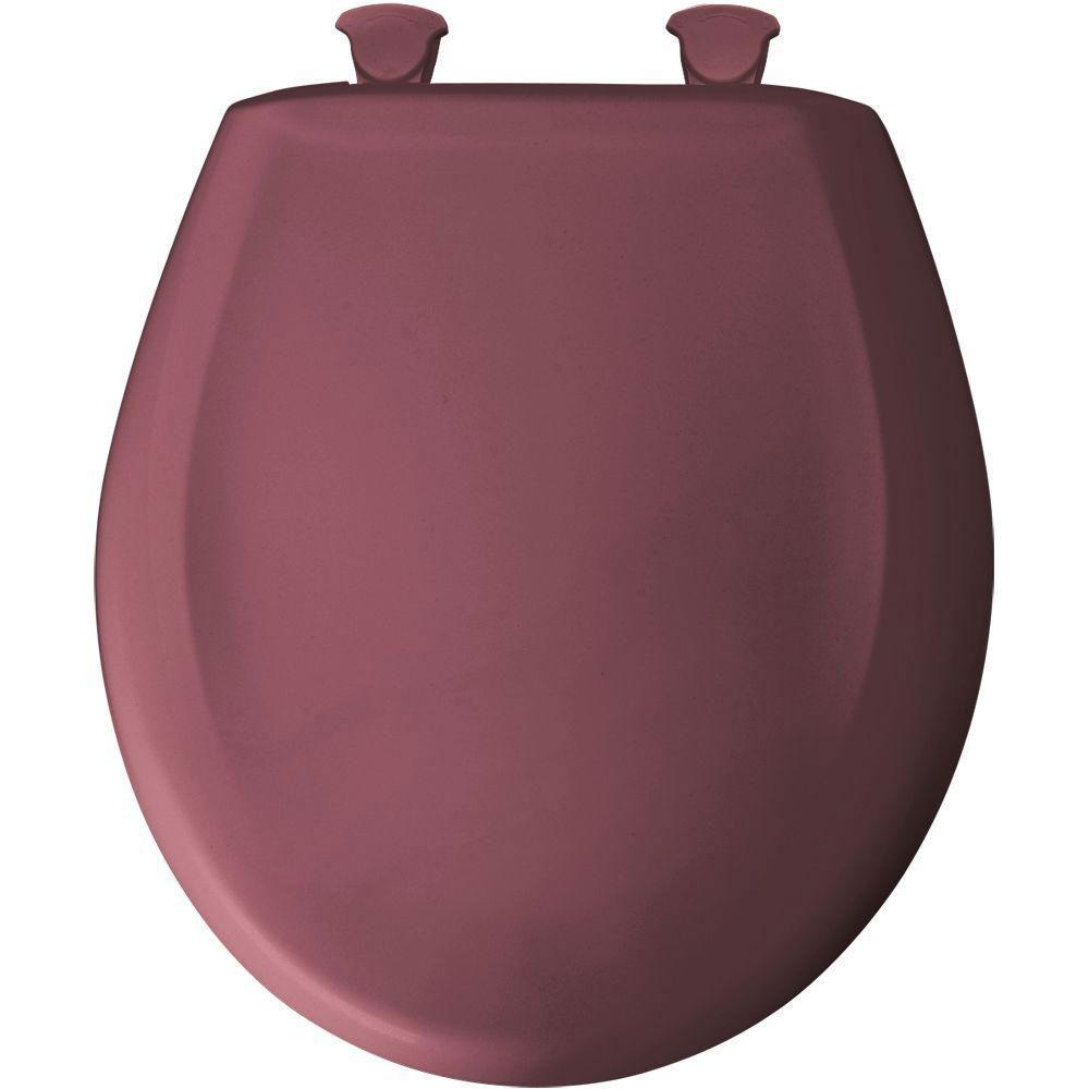 Bemis Round Closed Front Toilet Seat in Raspberry 480855