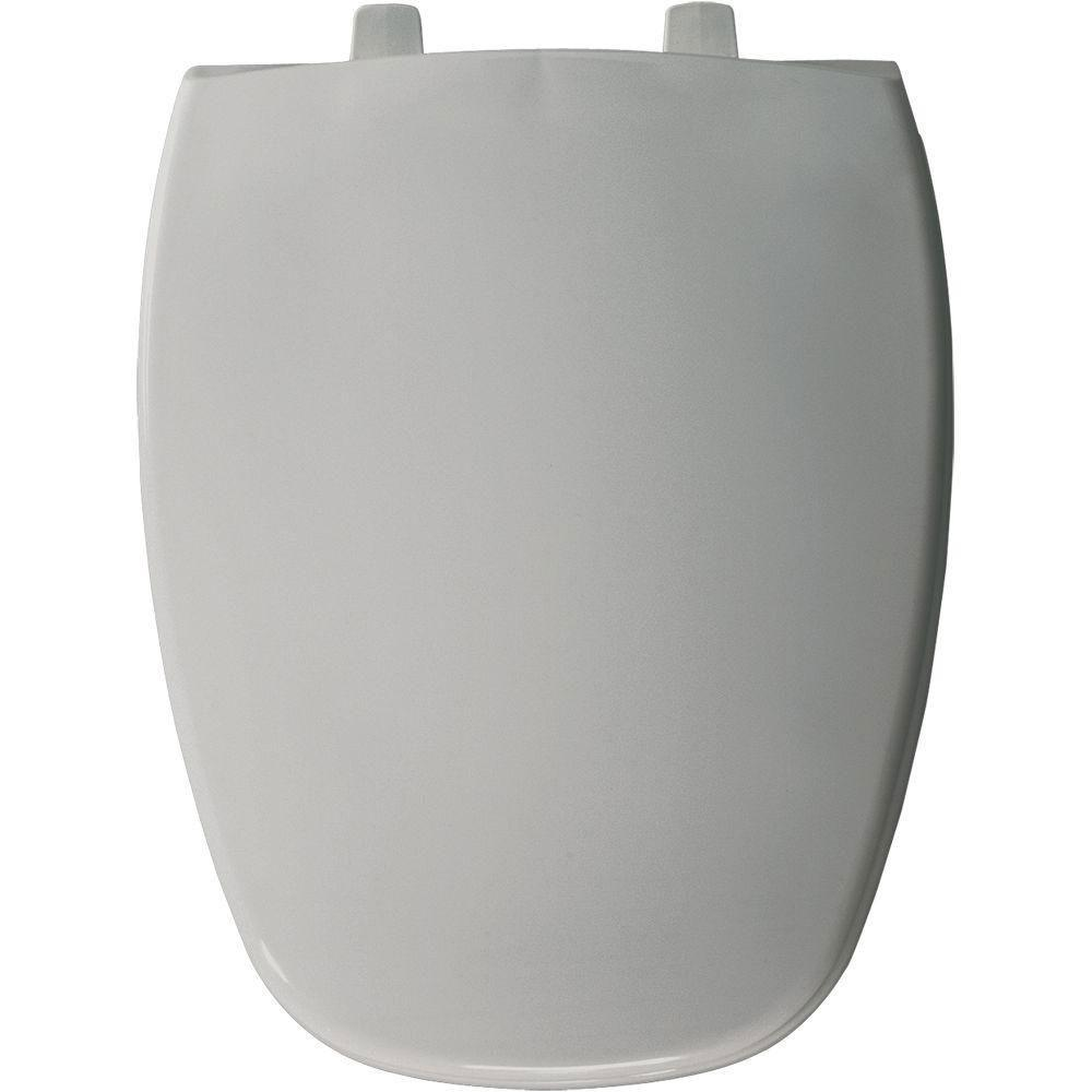Bemis Elongated Closed Front Toilet Seat in Silver 480866