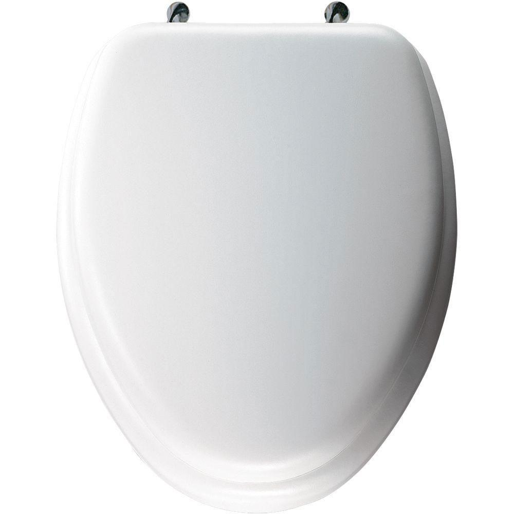 Bemis Elongated Closed Front Toilet Seat in White 480870