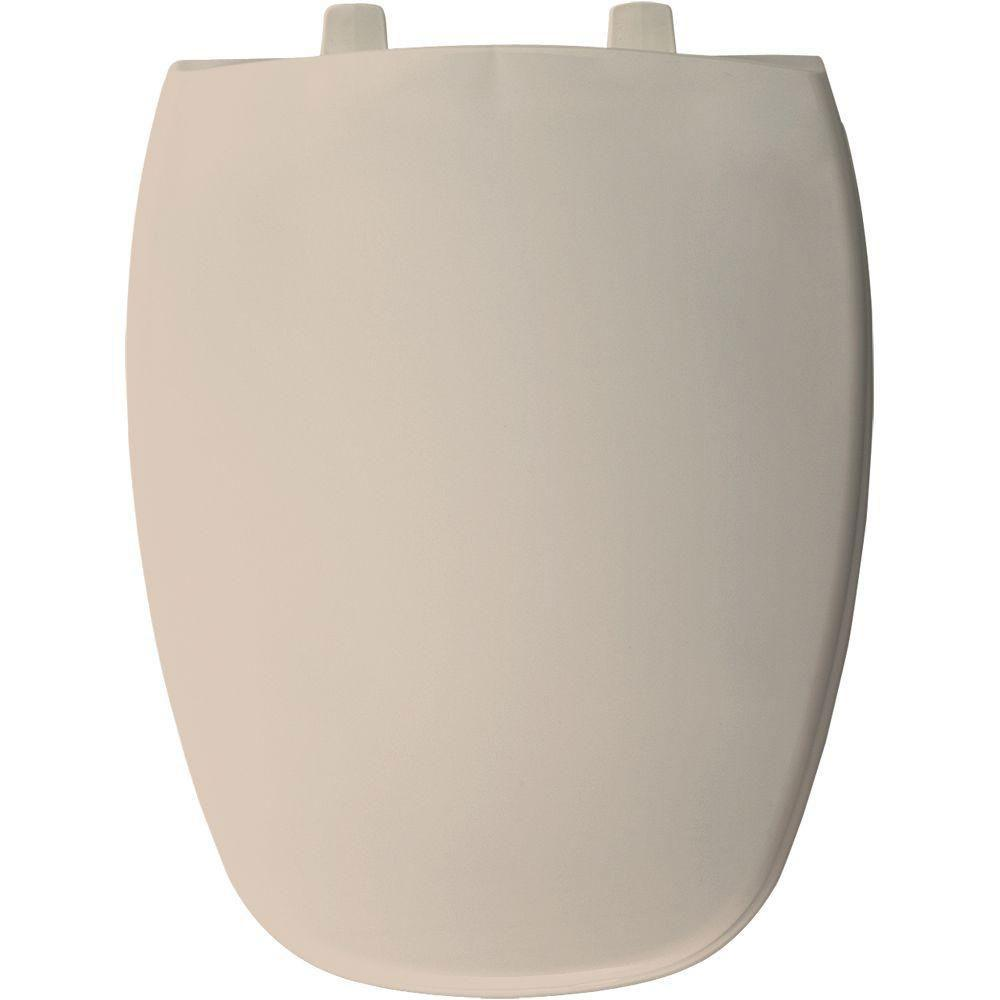 Bemis Elongated Closed Front Toilet Seat in Peach Bisque 480878