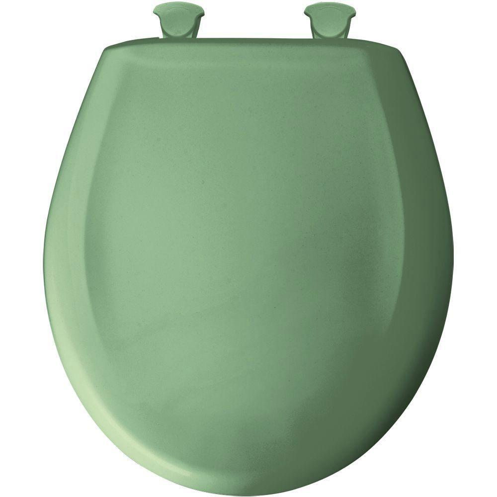 Bemis Round Closed Front Toilet Seat in Jade 480895