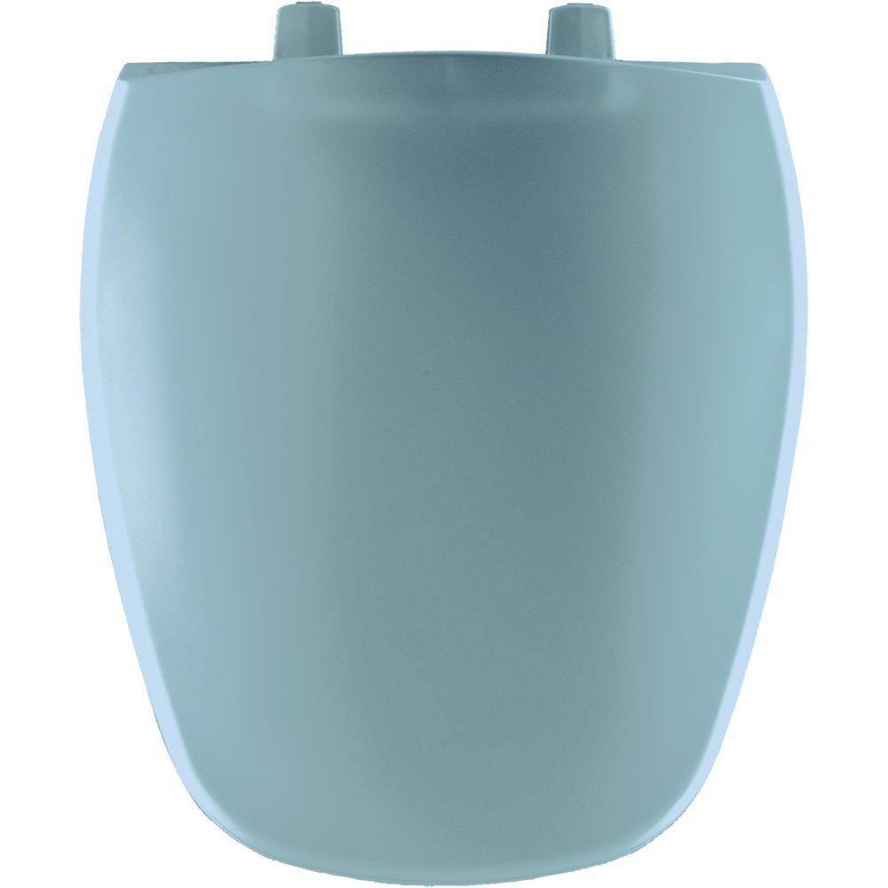 Bemis Round Closed Front Toilet Seat in Twilight Blue 483564