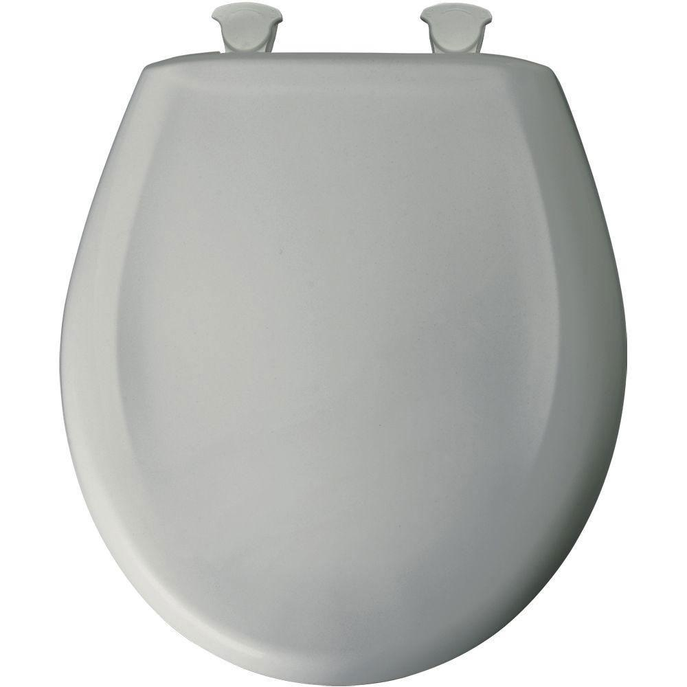 Bemis Round Closed Front Toilet Seat in Ice Gray 496454