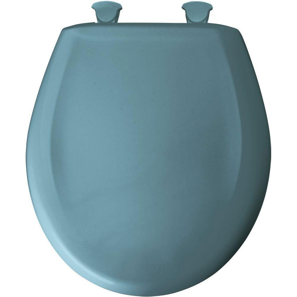 Bemis Round Closed Front Toilet Seat in Regency Blue 496456