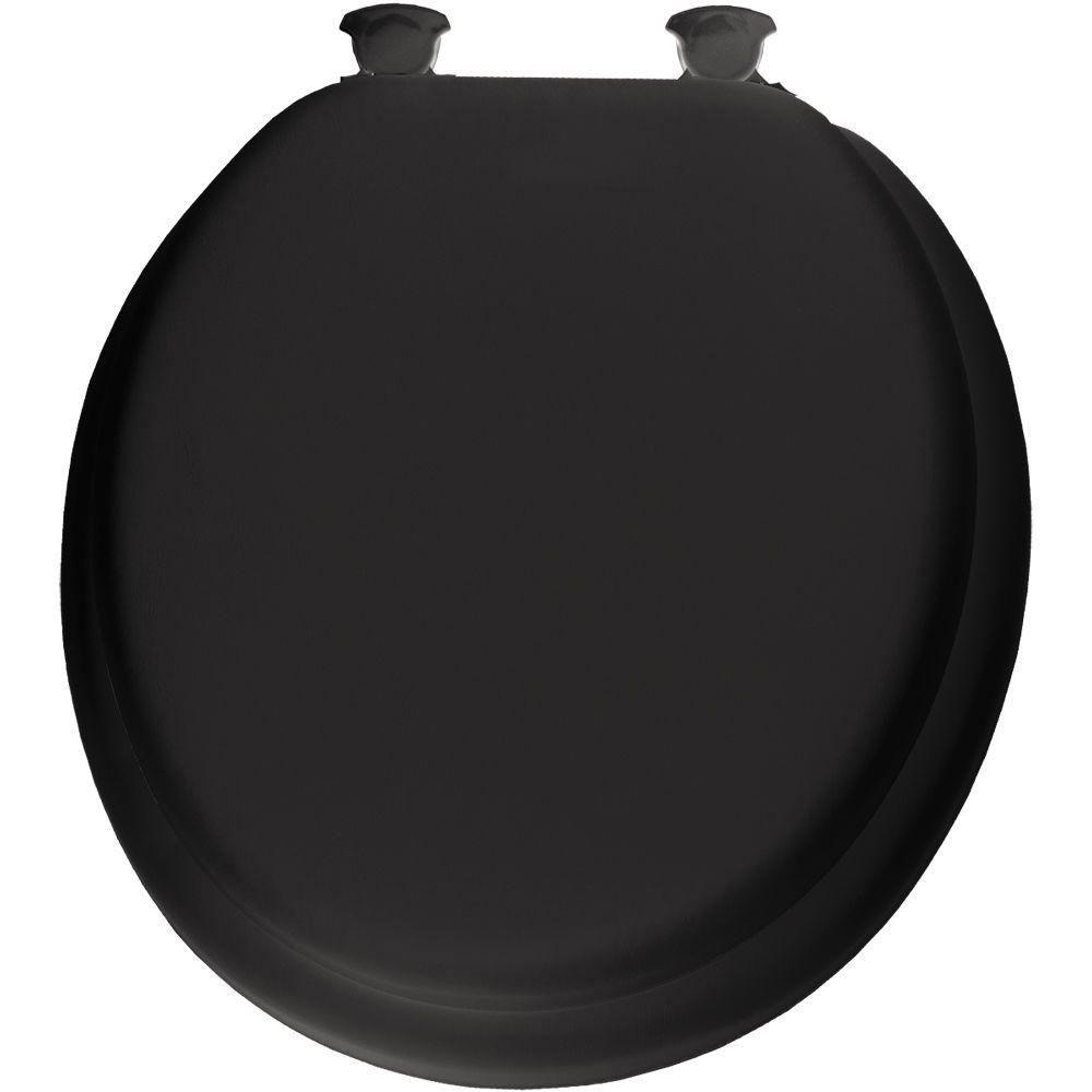 Incredible Bemis Lift Off Soft Round Closed Front Toilet Seat In Black 506069 Pdpeps Interior Chair Design Pdpepsorg