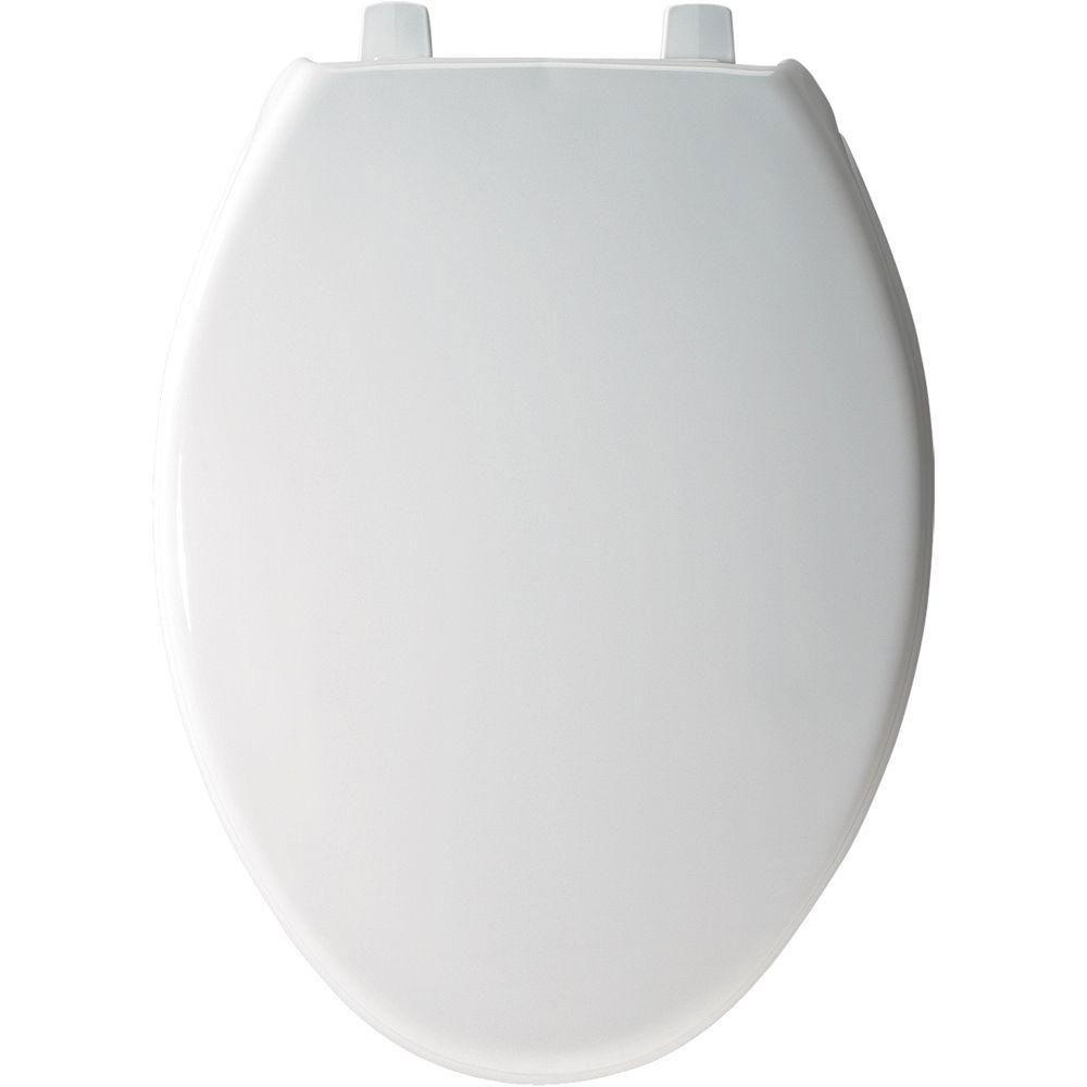 Bemis Just-Lift Elongated Closed Front Toilet Seat in White 509950