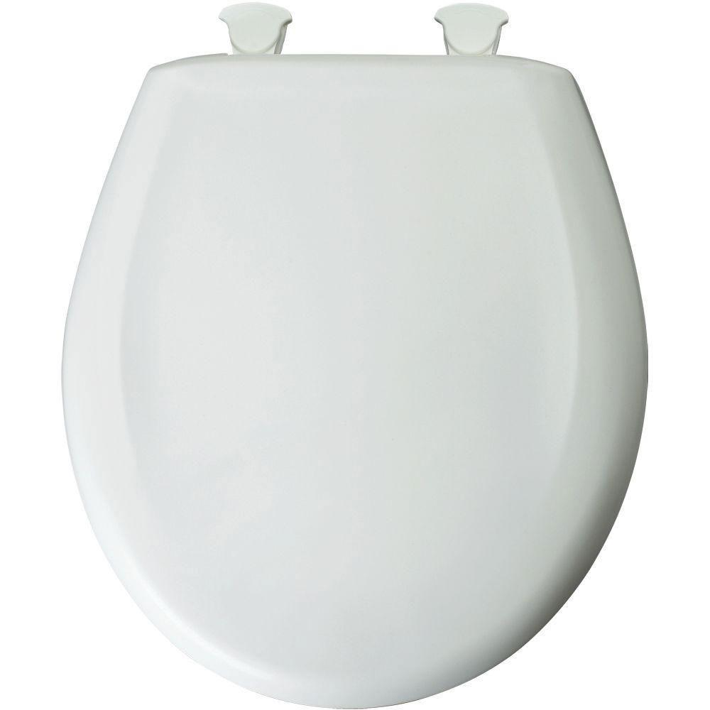 Bemis STA-TITE Round Slow Closed Front Toilet Seat in White 529623