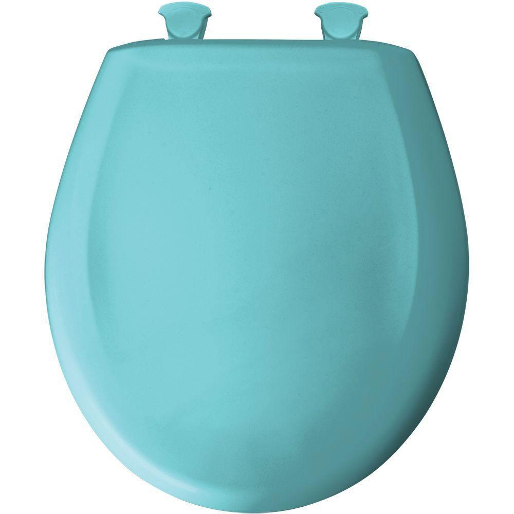 Bemis Round Closed Front Toilet Seat in Surf Green 529693