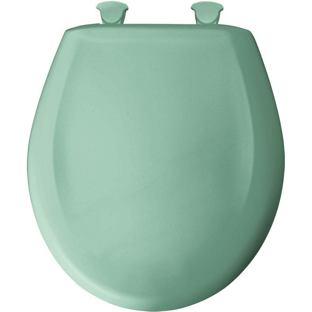 Bemis Round Closed Front Toilet Seat in Ming Green 529704