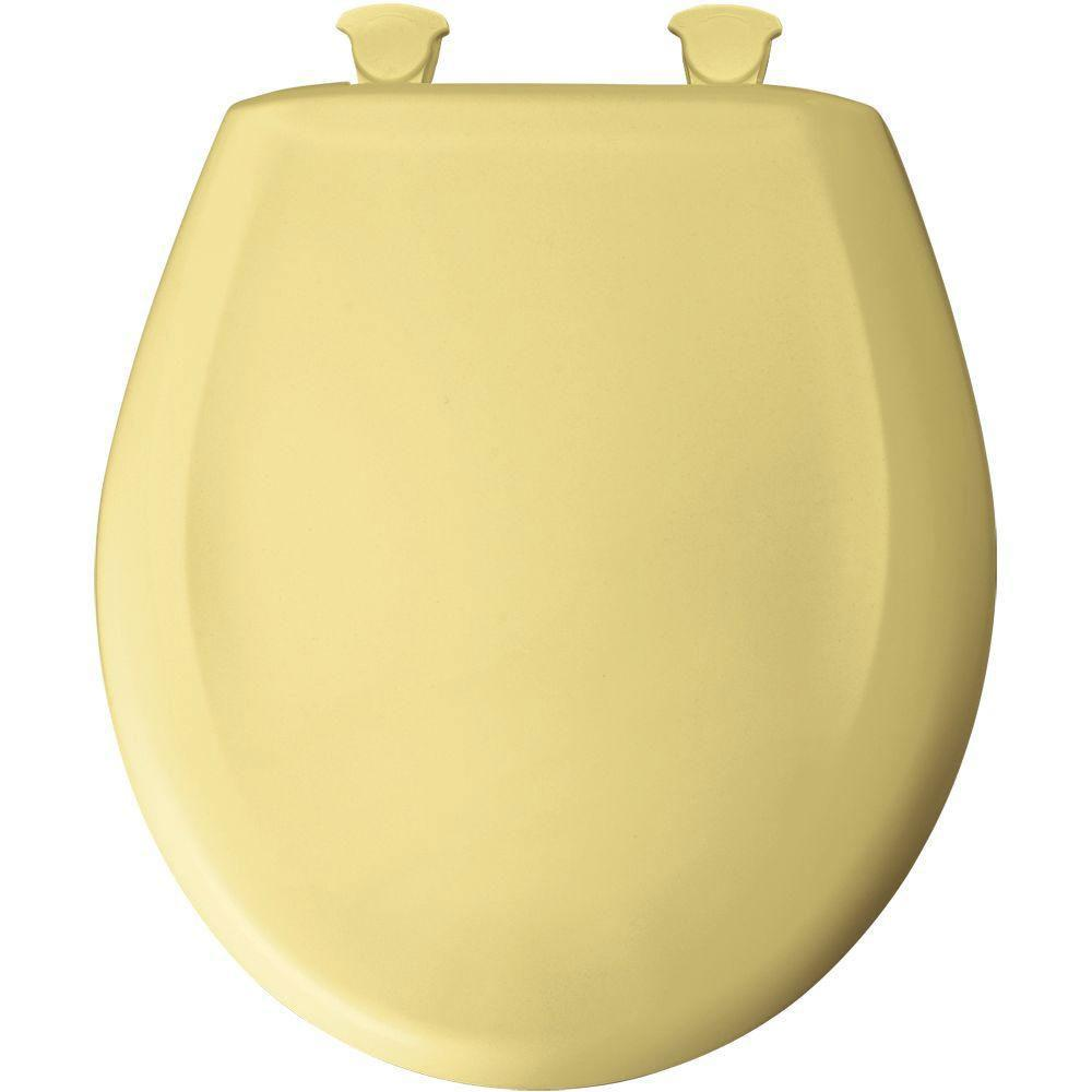 Bemis Round Closed Front Toilet Seat in Yellow 529707