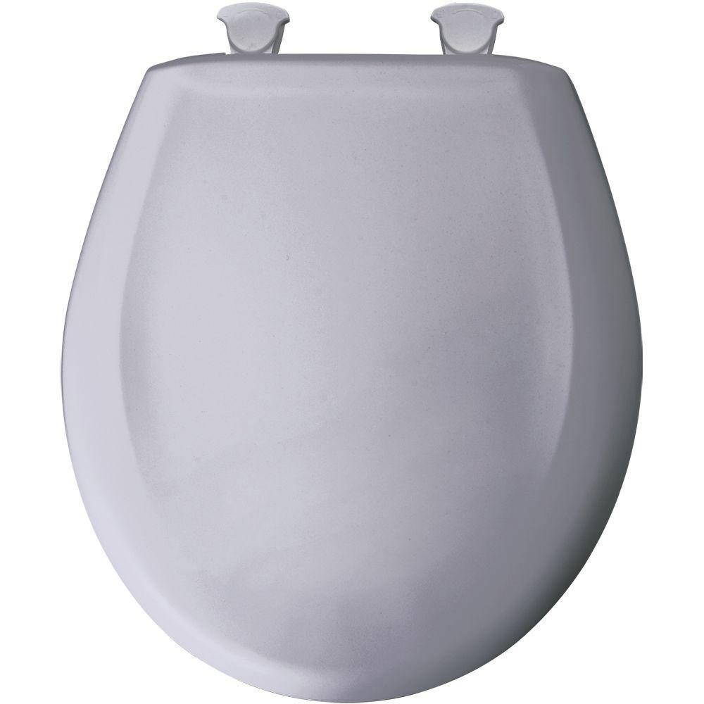 Bemis Round Closed Front Toilet Seat in Lilac Grey 529717