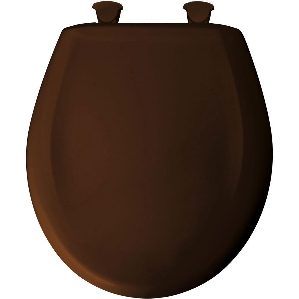 Bemis Round Closed Front Toilet Seat in Swiss Chocolate 529722