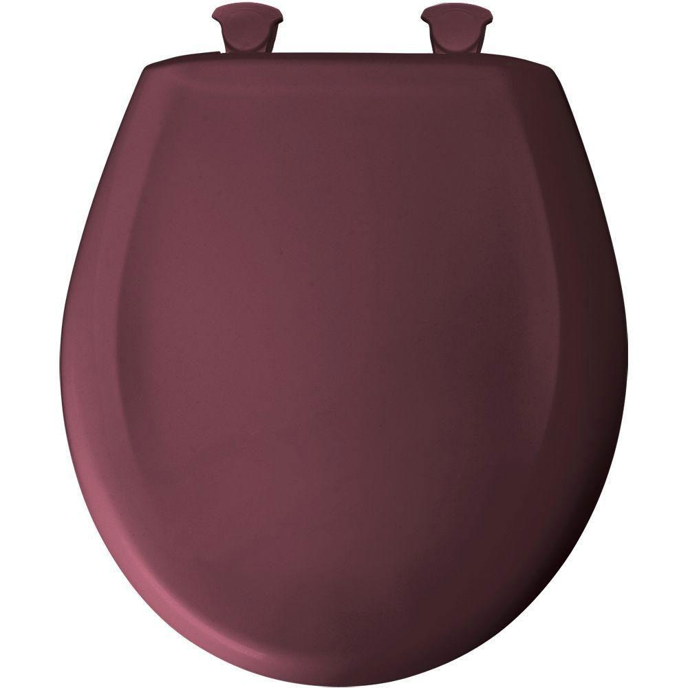 Bemis Round Closed Front Toilet Seat in Loganberry 529726
