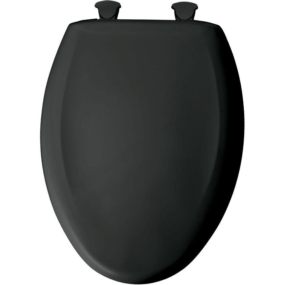 Bemis STA-TITE Elongated Slow Closed Front Toilet Seat in Black 529756