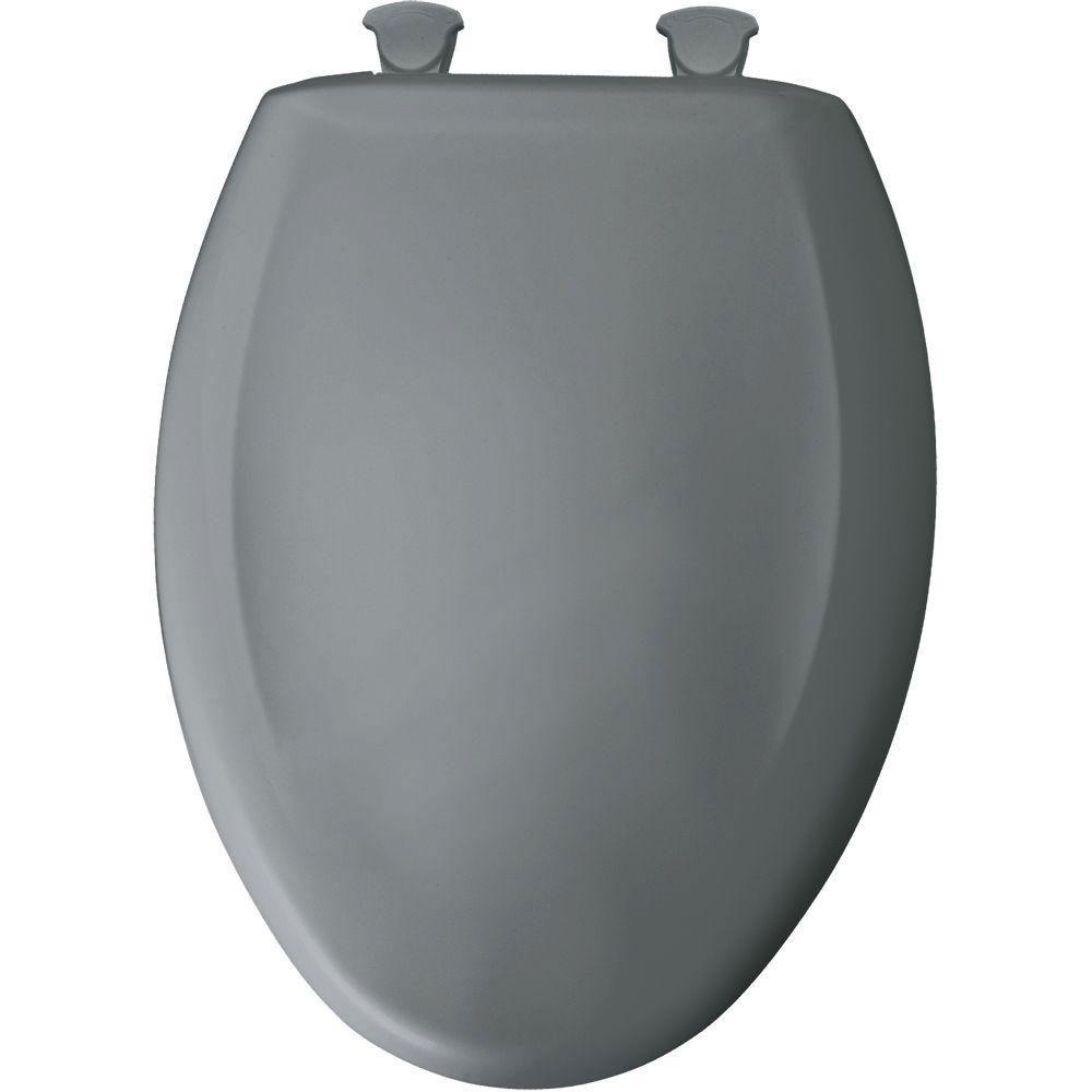 Bemis Slow Close STA-TITE Elongated Closed Front Toilet Seat in Classic Grey 529794