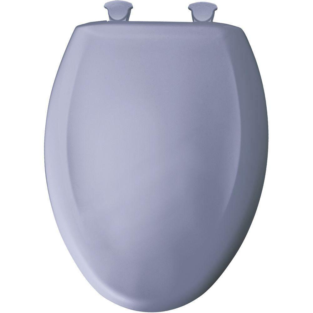 Bemis Slow Close STA-TITE Elongated Closed Front Toilet Seat in Skylight 529805