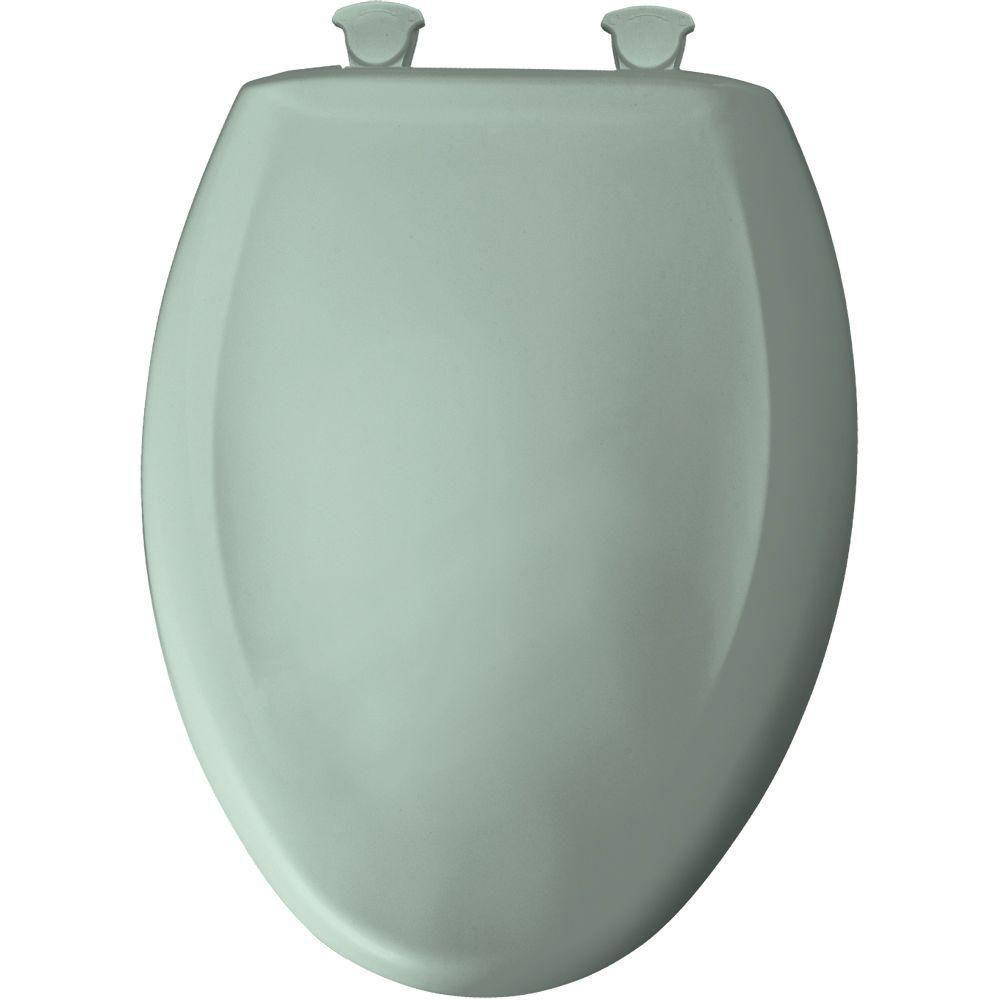 Bemis Slow Close STA-TITE Elongated Closed Front Toilet Seat in Seafoam 529806