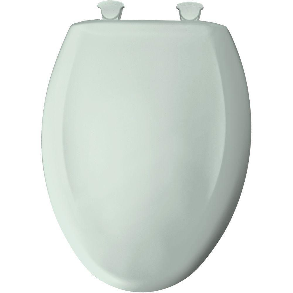 Bemis Slow Close STA-TITE Elongated Closed Front Toilet Seat in Spring 529812