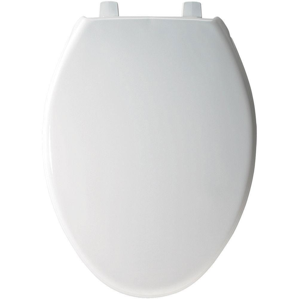 Bemis Elongated Closed Front Toilet Seat in White 529877