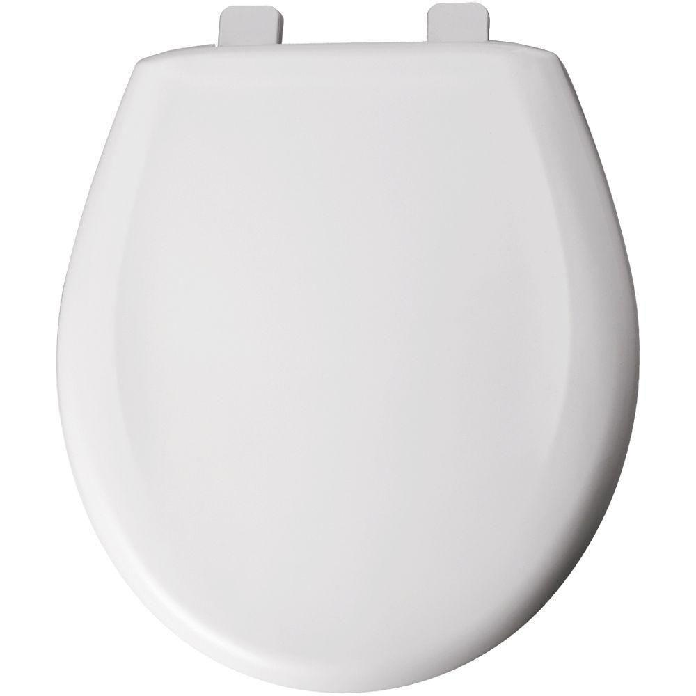 Bemis Round Closed Front Toilet Seat in White 534766