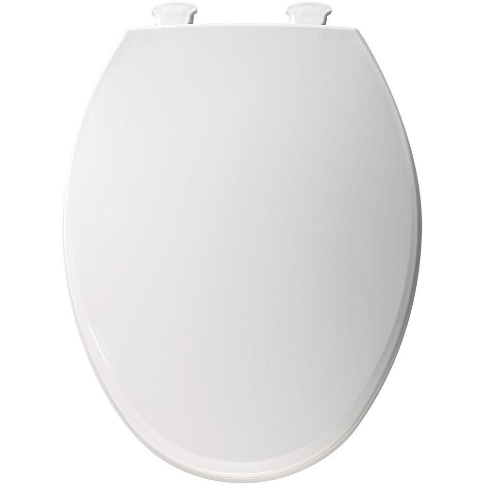Bemis Lift-Off Elongated Closed Front Toilet Seat in White 566815