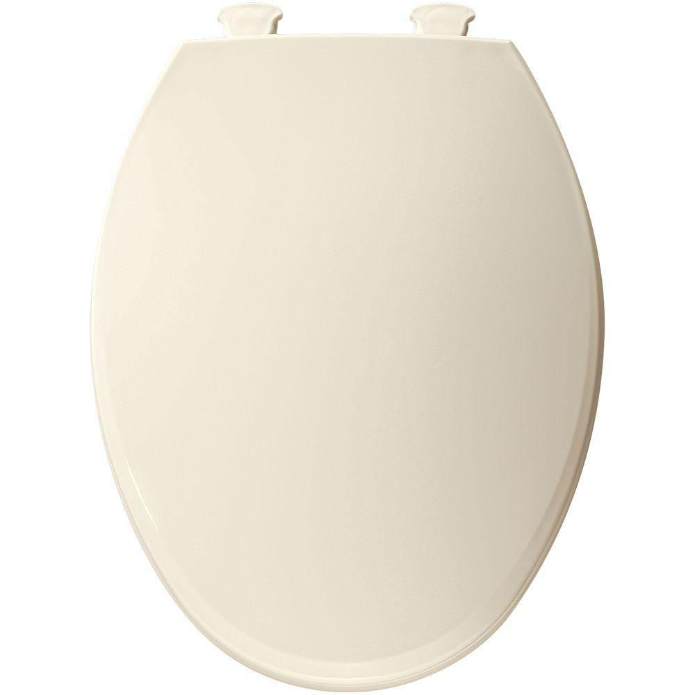 Bemis Lift-Off Elongated Closed Front Toilet Seat in Biscuit 566817