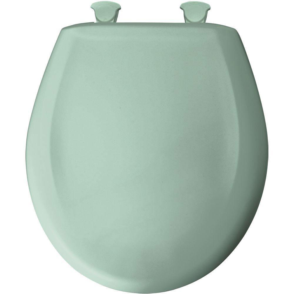 Bemis Round Closed Front Toilet Seat in Aegean Mist 585645