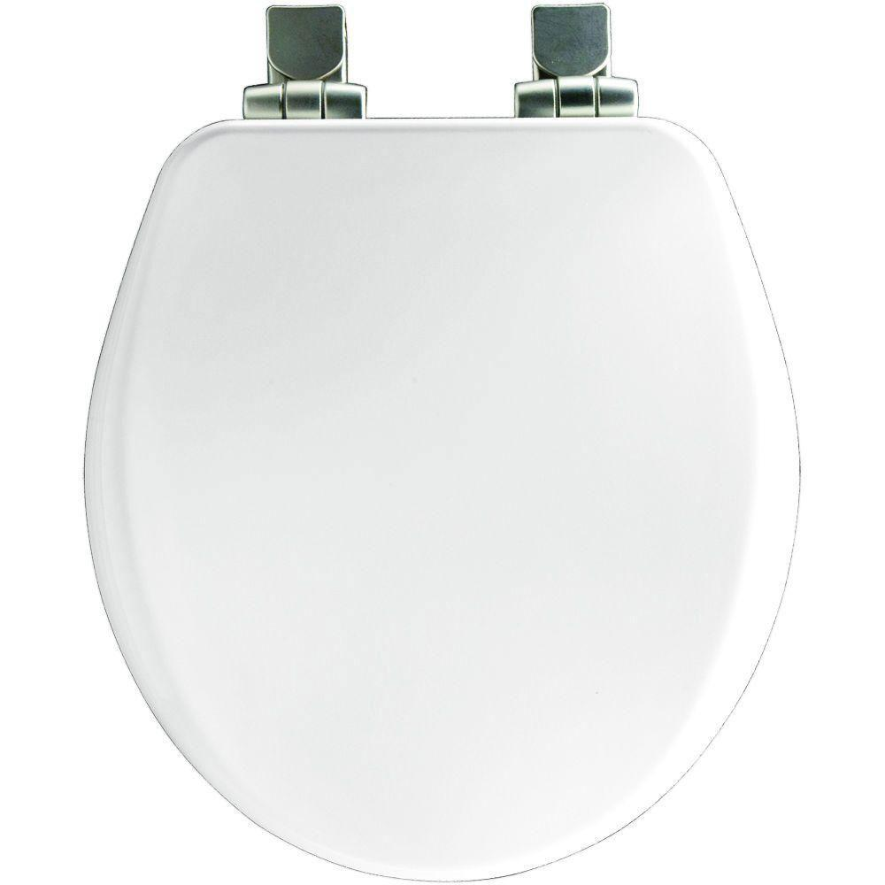 Bemis Slow Close Round Closed Front Toilet Seat in White 590104