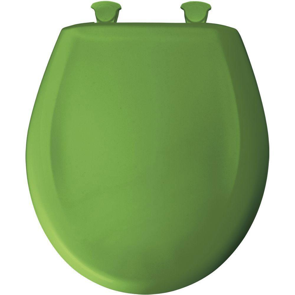Bemis Slow Close STA-TITE Round Closed Front Toilet Seat in Fresh Green 593081