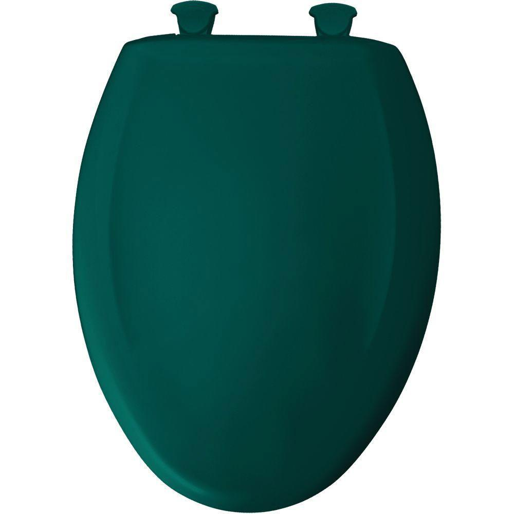 Bemis Slow Close STA-TITE Elongated Closed Front Toilet Seat in Teal 597113