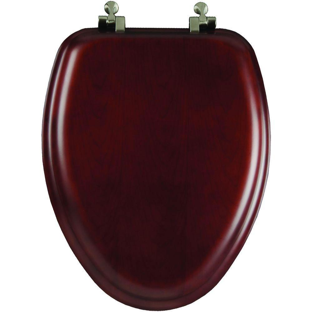 Mayfair Natural Reflections Elongated Closed Front Toilet Seat in Cherry 617885