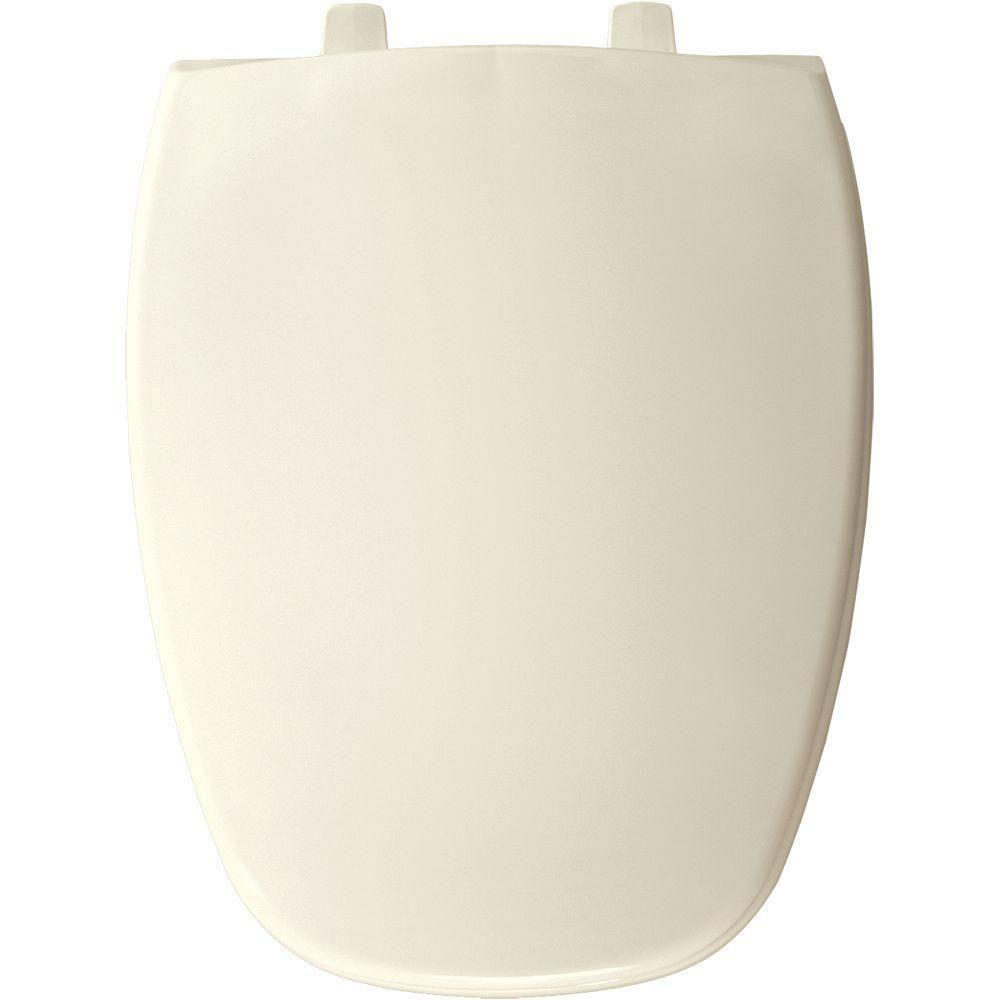 Bemis Elongated Closed Front Toilet Seat in Biscuit 628333