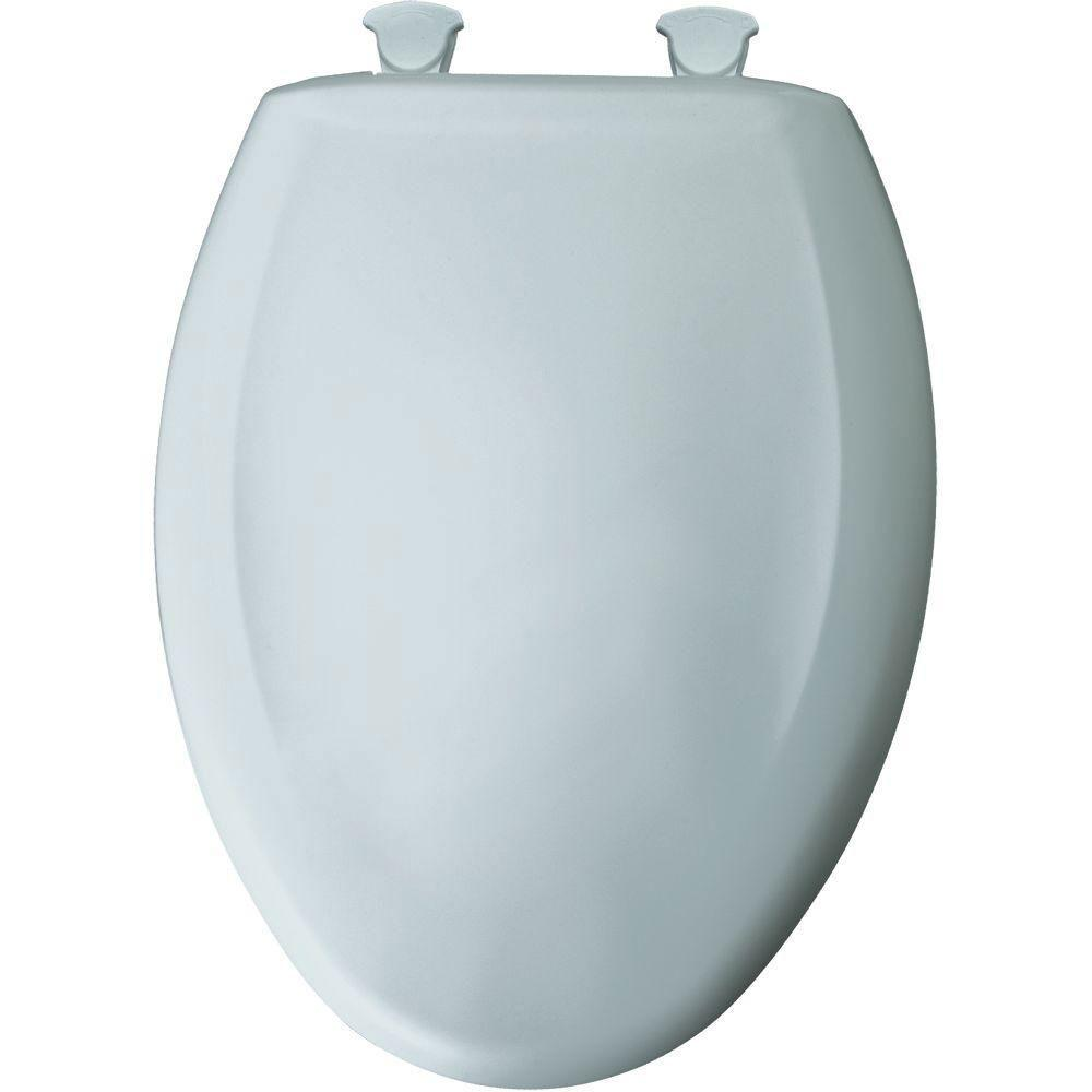 Bemis Slow Close STA-TITE Elongated Closed Front Plastic Toilet Seat in Daydream 647193