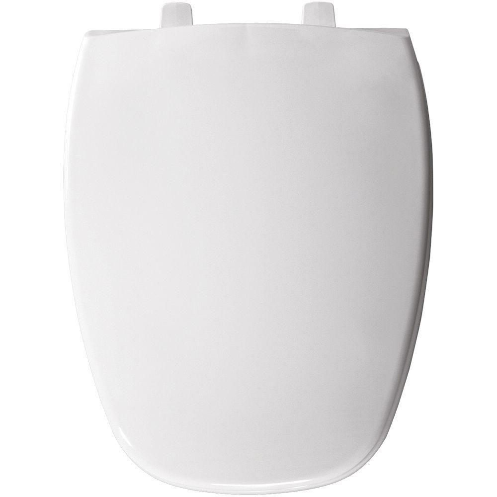 Bemis Elongated Closed Front Toilet Seat in White 69796