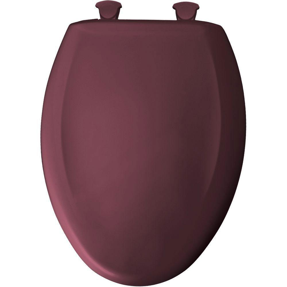 Bemis Whisper Close Elongated Closed Front Toilet Seat in Loganberry 760640