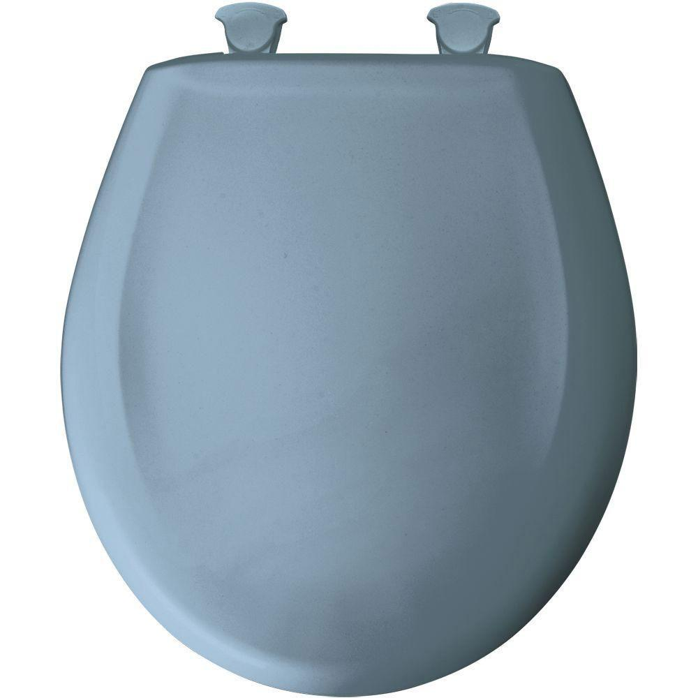 Bemis Round Closed Front Toilet Seat in Glacier Blue 762216